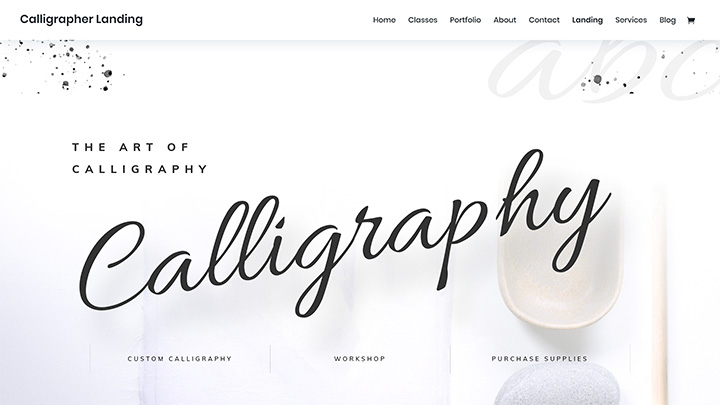Calligrapher Divi Layout Pack