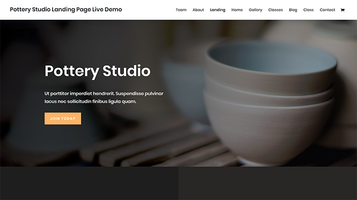 Pottery Studio Divi Layout Pack