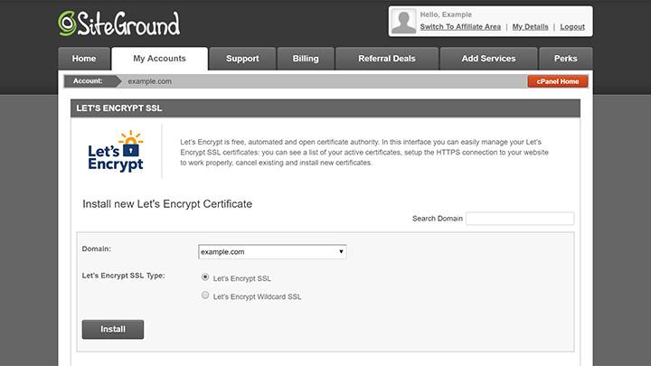 SiteGround Let's Encrypt Tool