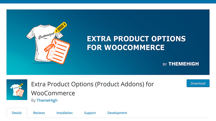 Extra Product Options Repository Listing