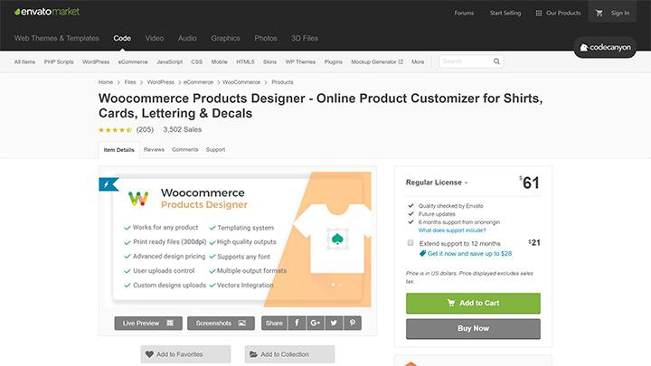 WooCommerce Products Designer WordPress Plugin