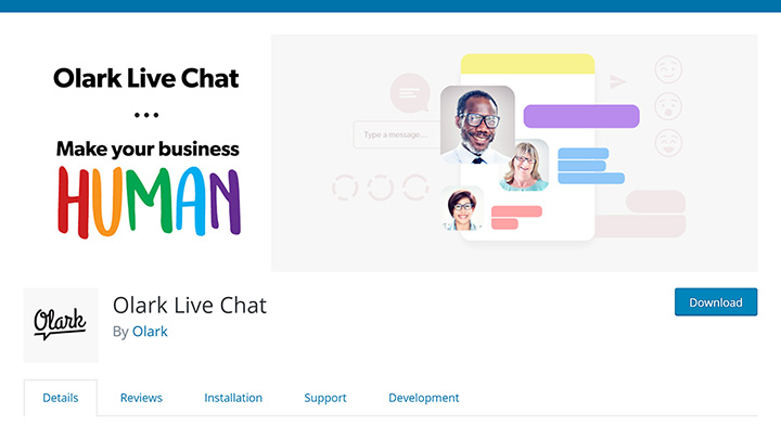 Olark Live Chat Plugin