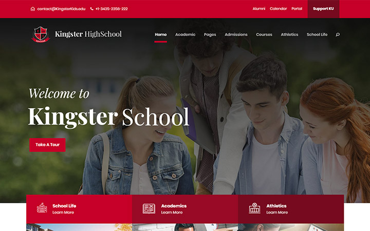 Website Theme Like Stanford