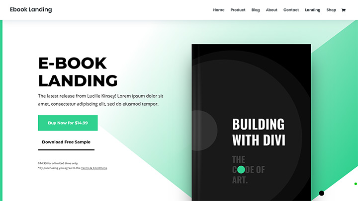 Divi Ebook Landing Page Pack