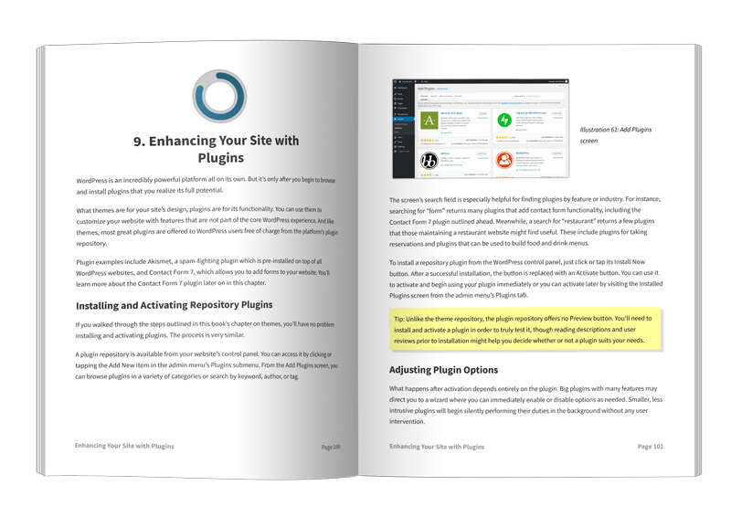 Easily Build WordPress Website Book Pages