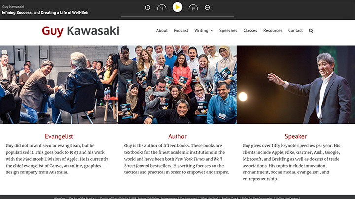 Guy Kawasaki Website