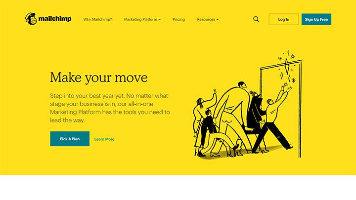 Mailchimp 2020 Homepage