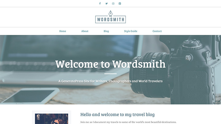 Wordsmith GeneratePress Theme