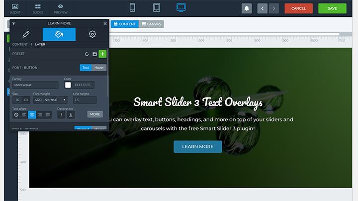 Smart Slider 3 WordPress Carousel Editor