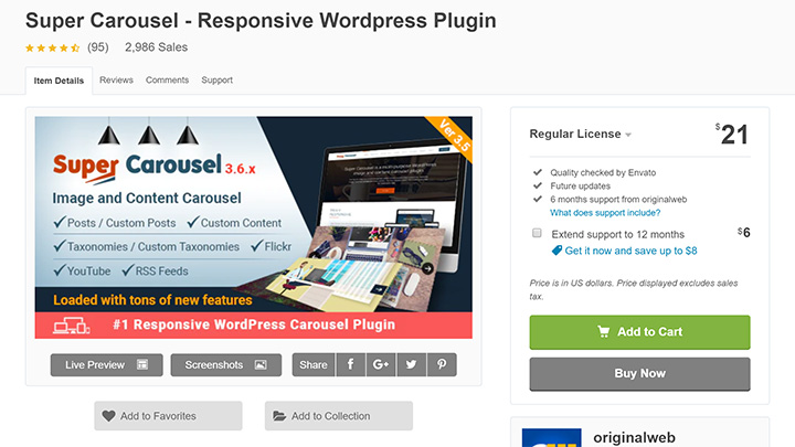 Super Carousel Review CodeCanyon