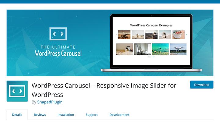 WordPress Carousel in Plugin Repository