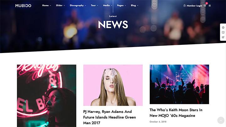 Musico Blog Template