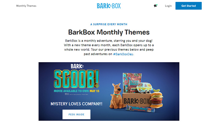 BarkBox Subscription Website