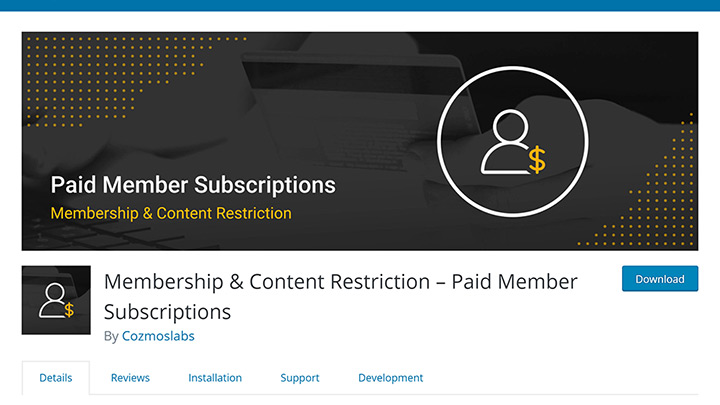 Paid Member Subscriptions in Plugin Repository