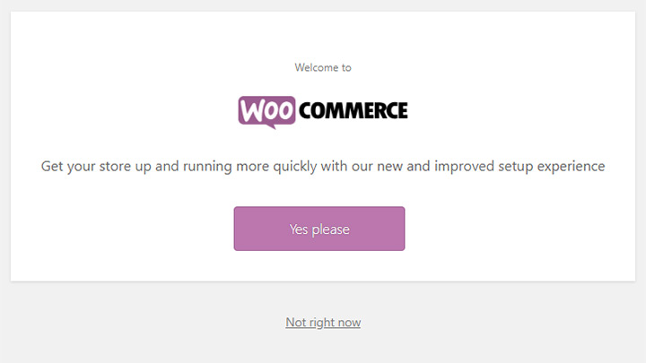 WooCommerce Setup Wizard Welcome Screen