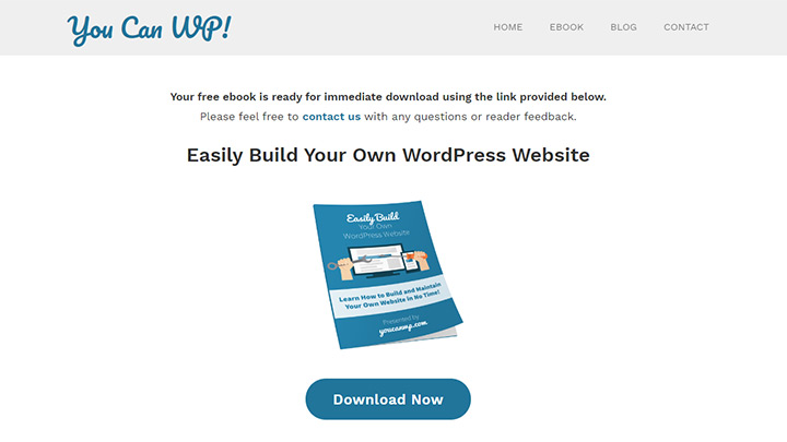 You Can WP! Ebook Download Page