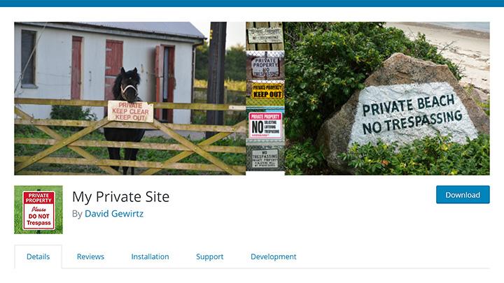 My Private Site WordPress Plugin