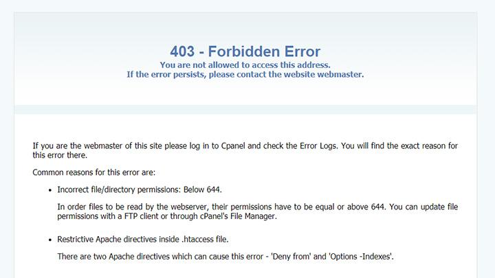 SiteGround 403 Forbidden Error