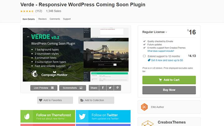 Verde WordPress Coming Soon Plugin