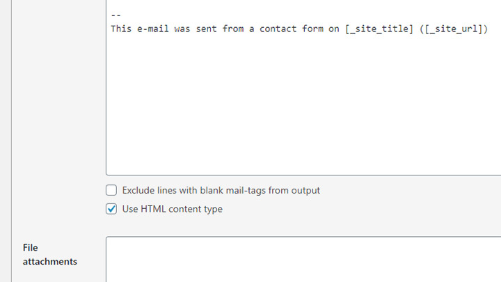 CF7 Use HTML Content Type