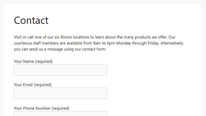 Form From WordPress Front End