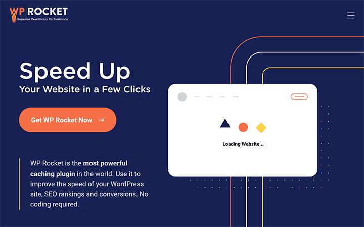WP Rocket Plugin Homepage